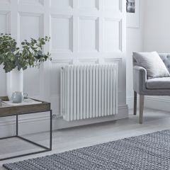 Milano Windsor - Traditional White 4 Column Electric Radiator - 600mm x 765mm (Horizontal)