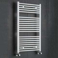 Sterling - Premium White Flat Heated Towel Rail - 1000mm x 600mm