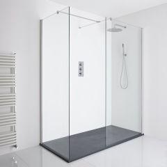 Milano Portland Corner Walk-In Shower Enclosure (1400 x 900mm) - Inc. Slate Tray