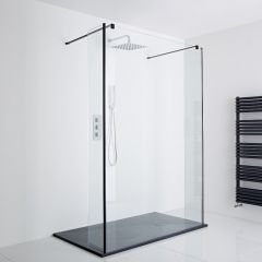 Milano Walk-In Floating Shower Enclosure Including Slate Tray (1200 x 800mm)