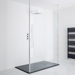 Milano Alto Floating Wet-Room Shower Enclosure (1400 x 800) - Inc. Slate Tray