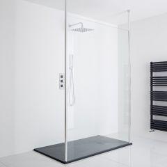 Milano Alto Floating Wet-Room Shower Enclosure (1400 x 900) - Inc. Slate Tray