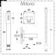 Milano Ashurst - Modern Triple Diverter Thermostatic Valve, Waterblade Head and Round Handset - Brushed Nickel