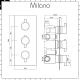 Milano Nero - Triple Thermostatic Diverter Shower Valve - Three Outlets - Black