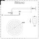 Milano Ashurst - Modern Triple Thermostatic Shower Valve, 200mm Round Head and Slide Rail Kit - Brushed Nickel