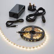 Biard LED IP20 5m 3528 Plug & Play Strip Light Kit - Warm White