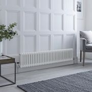 Milano Windsor - White Horizontal Traditional Column Radiator - 300mm x 1505mm (Double Column)