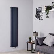 Milano Skye - Aluminium Anthracite Vertical Designer Radiator - 1600mm x 375mm