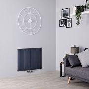 Milano Skye - Aluminium Anthracite Horizontal Designer Radiator - 600mm x 755mm