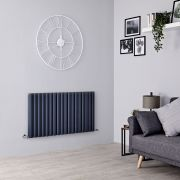Milano Aruba Ayre - Aluminium Anthracite Horizontal Designer Radiator - 600mm x 1070mm (Double Panel)