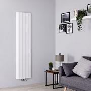 Milano Skye - Aluminium White Vertical Designer Radiator - 1600mm x 470mm