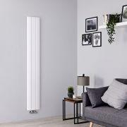 Milano Skye - Aluminium White Vertical Designer Radiator - 1800mm x 280mm