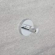 Milano Mirage - Modern Single Robe Hook - Chrome