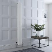 Milano Windsor - White Vertical Traditional Column Radiator - 1800mm x 200mm (Triple Column)