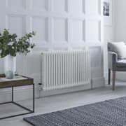 Milano Windsor - White Horizontal Traditional Column Radiator - 600mm x 1010mm (Double Column)