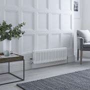 Milano Windsor - White Horizontal Traditional Column Radiator - 300mm x 1010mm (Triple Column)