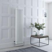 Milano Windsor - White Vertical Traditional Column Radiator - 1500mm x 380mm (Triple Column)