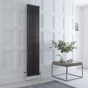 Milano Windsor - Black Vertical Traditional Column Radiator - 1800mm x 380mm (Double Column)