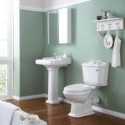Milano Legend - Traditional Pedestal Basin and Toilet Bathroom Suite