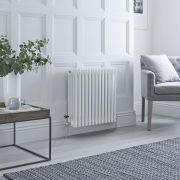 Milano Windsor - White Horizontal Traditional Column Radiator - 600mm x 605mm (Four Column)