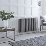 Milano Windsor - Lacquered Raw Metal Horizontal Traditional Column Radiator - 600mm x 1010mm (Triple Column)