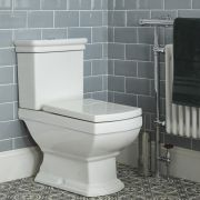Milano Sandringham - Traditional Close Coupled Toilet with Cistern and Soft Close Seat