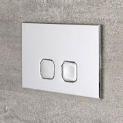 Milano - Chrome Square Flush Plate - 150mm x 230mm