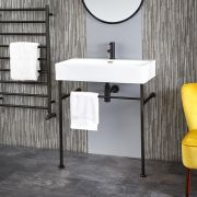 Milano Elswick - 750mm Basin with Black Washstand