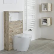 Milano Bexley - Light Oak Open Shelf 600mm WC Unit