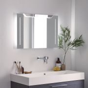 Milano Minho LED Bathroom Mirror with Sweep Sensor & Demister - 700mm x 500mm