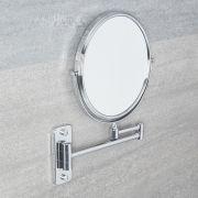 Milano Mirage - Modern Wall Mounted Shaving Mirror - Chrome