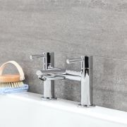 Milano Mirage - Modern Bath Filler Tap - Chrome