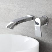 Milano Razor - Modern Wall Mounted Basin Mixer Tap - Chrome
