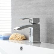 Milano Wick - Modern Deck Mounted Mono Basin Mixer Tap - Chrome