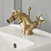 Milano Elizabeth - Traditional Crosshead Mono Bidet Mixer Tap - Brushed Gold