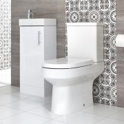 Milano Ballam - Close Coupled Toilet and 400mm Floor Standing Vanity Unit Set - Choice of Finish