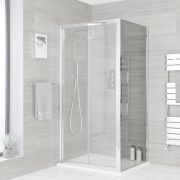 Milano Portland - Chrome Shower Side Panel - Choice of Sizes
