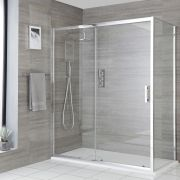 Milano Portland - Corner Sliding Door Shower Enclosure with Slate Tray - Choice of Sizes