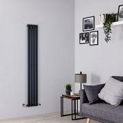 Milano Aruba Slim - Anthracite Space-Saving Vertical Designer Radiator - 1600mm x 236mm