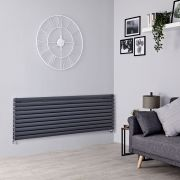 Milano Aruba - Anthracite Horizontal Designer Radiator - 590mm x 1600mm (Double Panel)