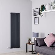 Milano Capri - Anthracite Flat Panel Vertical Designer Radiator - 1600mm x 472mm