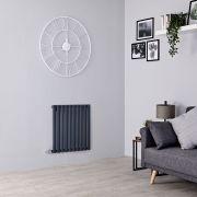 Milano Aruba Electric - Anthracite Horizontal Designer Radiator - 635mm x 595mm