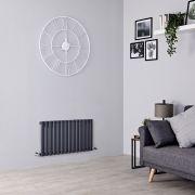 Milano Aruba - Anthracite Horizontal Designer Radiator - 400mm x 834mm