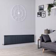 Milano Aruba - Anthracite Horizontal Designer Radiator - 400mm x 1647mm