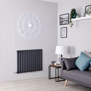 Milano Alpha Electric - Anthracite Horizontal Designer Radiator - 635mm x 840mm
