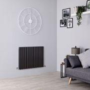 Milano Aruba - Black Horizontal Designer Radiator - All Sizes