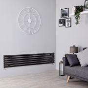 Milano Aruba - Black Horizontal Designer Radiator - 354mm x 1600mm