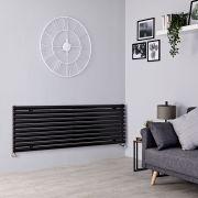 Milano Aruba - Black Horizontal Designer Radiator - 590mm x 1600mm