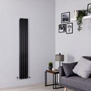 Milano Aruba - Black Space-Saving Vertical Designer Radiator - 1600mm x 236mm (Double Panel)