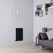 Milano Aruba Electric - Black Horizontal Designer Radiator - 635mm x 415mm